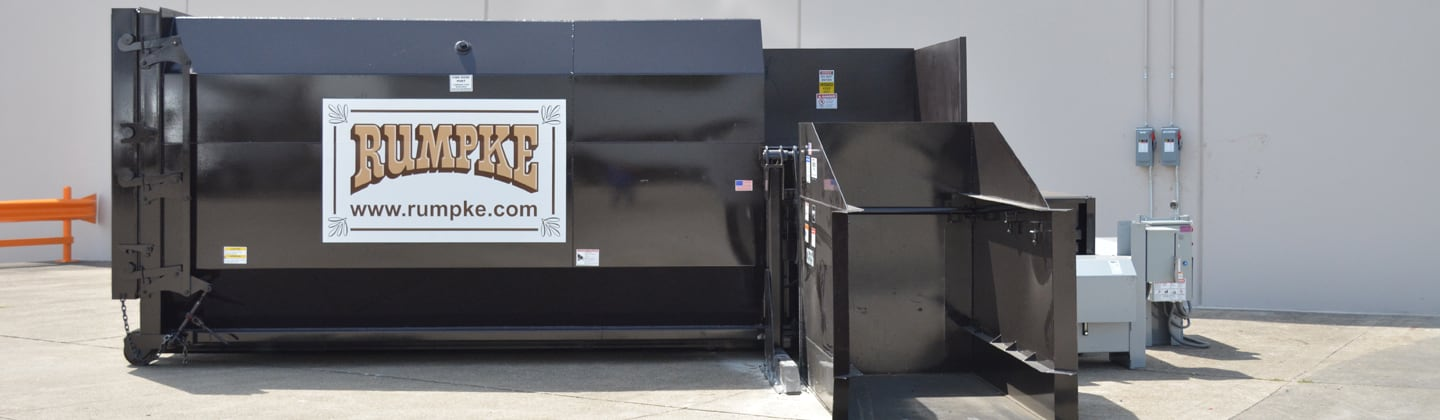Business with compactor rental for trash and recycling