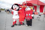 Mascots at Educational Event
