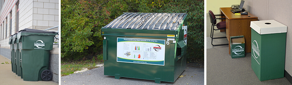 Recycling containers for rent and purchase