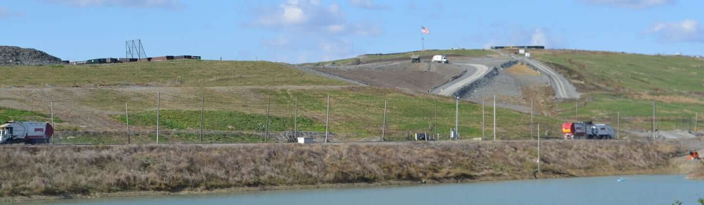 Videos of landfills being constructed and maintained
