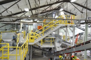 Rumpke Recycling's glass facility creates raw material for fiberglass insulation and glass containers