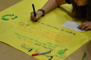 Students create recycling campaign posters