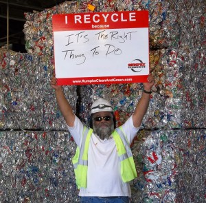 Rumpke Recycling Manager Terry Parker offers a simple, yet important, reason to recycle.